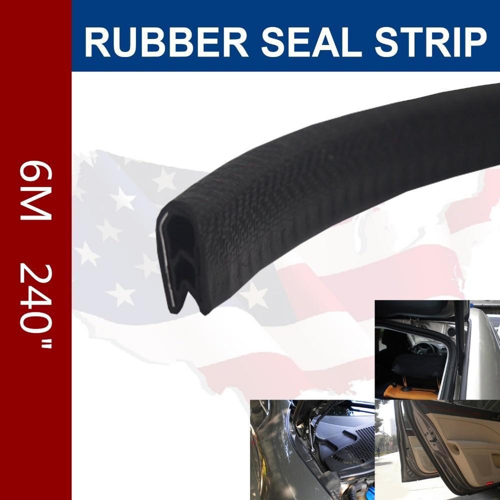 6m Black Universal Rubber Edge Trim Seal Protector Guard
