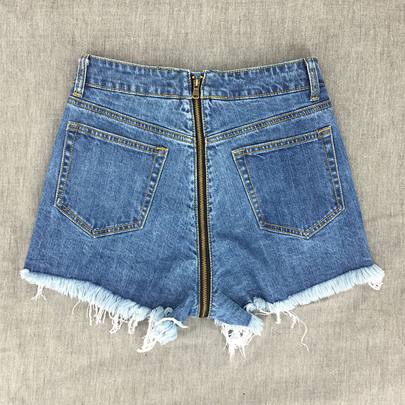 Useful New Arrival Casual Summer 2019 Hot Sale Denim Women Shorts High Waists A-lined Leg-openings Black Sexy Short Jeans Bottoms