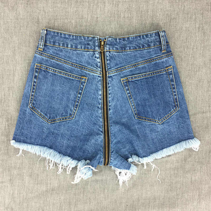 06db89714c91ef ... Voobuyla Buttocks Zipper Denim Shorts 2018 New Sexy Summer Women Shorts  High Waist Hot Short Jeans