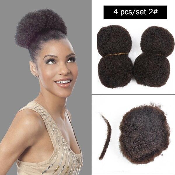 Yotchoi 4pcs Lot Tight Afro Kinky Bulk Hair 100 Human Hair For Dreadlocks Twist Braids Dark