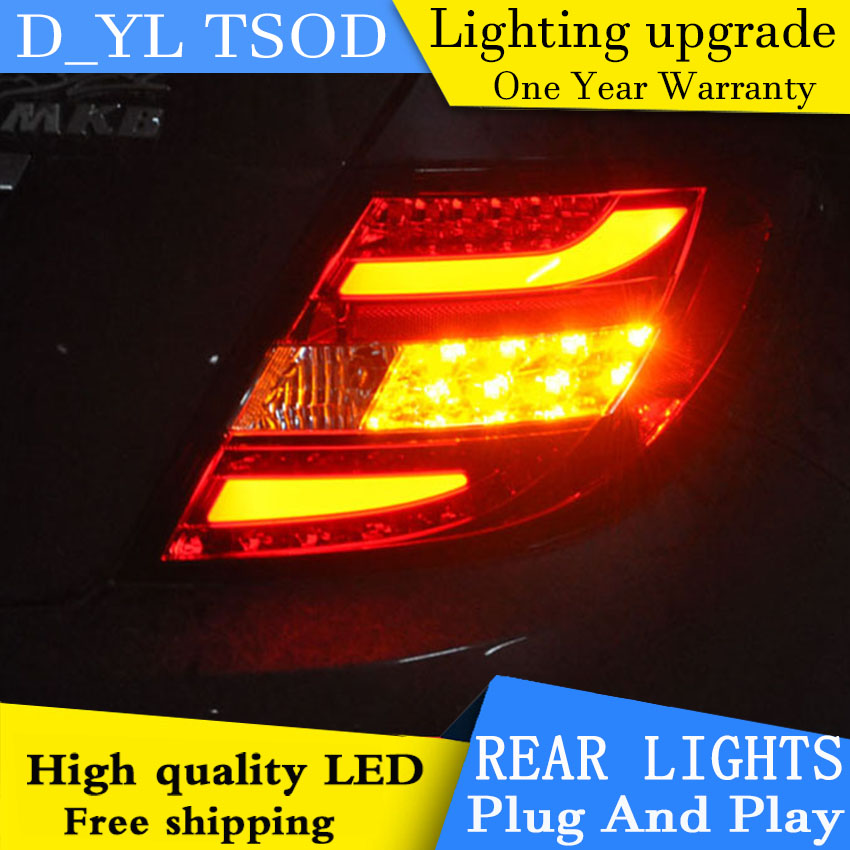 Car Styling for Benz W204 C180 C200 C260 LED Tail Light 2007 2010 Lamp New Altis LED Rear Lamp LED DRL+Brake+Park+Signal Stop-in Car Light Assembly from Automobiles & Motorcycles    1