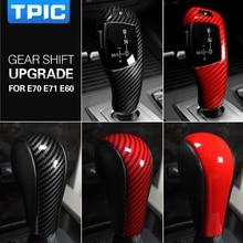 Tpic 자동차 액세서리 인테리어 abs 기어 시프트 커버 장식 스티커 bmw e60 e70 e71 올드 5 시리즈 x5 x6 자동차 스타일링