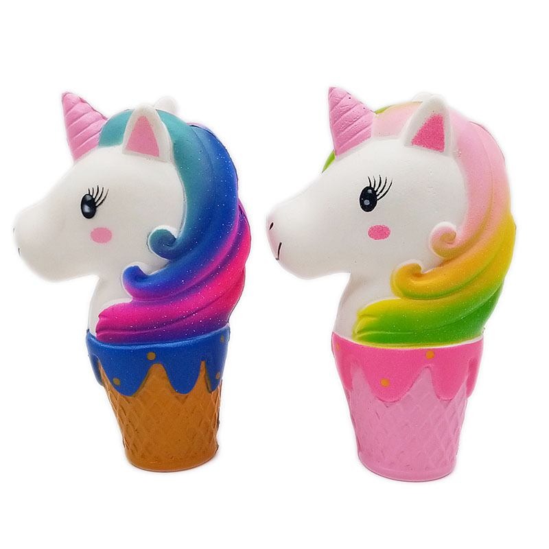 Unicorn Squishes Cup Big Slime Ice Cream Squishy Cartoon Galaxy Slow Rising Squeeze Antistress Toys Hobbies Kids Stress Relief