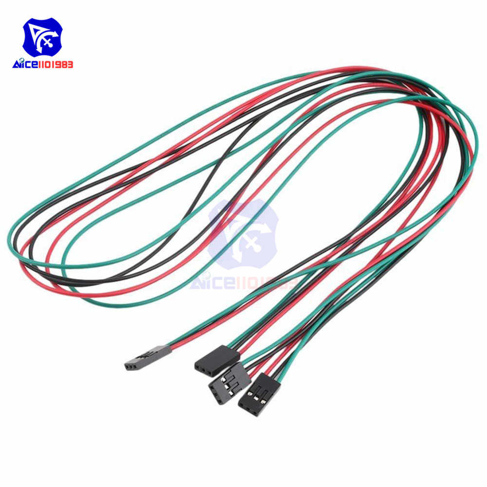 1 Piece 70cm 3Pin Cable Female to Female Jumper Wire for Arduino 3D Printer