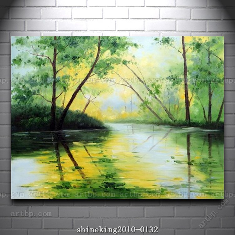 Handpainted Landscape Oil Painting Impressionist Art Canvas Abstract Techniques Large Acrylic Paintings Home In Calligraphy From