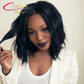 Natural Wave Short Bob Human Hair Full Lace Wigs Malaysian Virgin Hair Best Glueless Lace Front Bob Wigs With Baby Hair