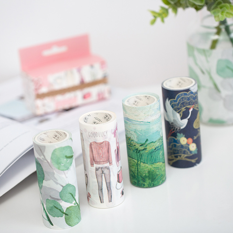 10 pcs/lot DIY Japanese Paper Decorative Adhesive Tape Cartoon Between the fields Washi Tape/Masking Tape Stickers Size 100mm*3m