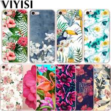 For Apple IPhone 7 8 X 6 6S Plus case 5 5S SE XS MAX XR Phone Case Tropical Plants Cover Soft TPU Coque Flower Birds Shell цена и фото