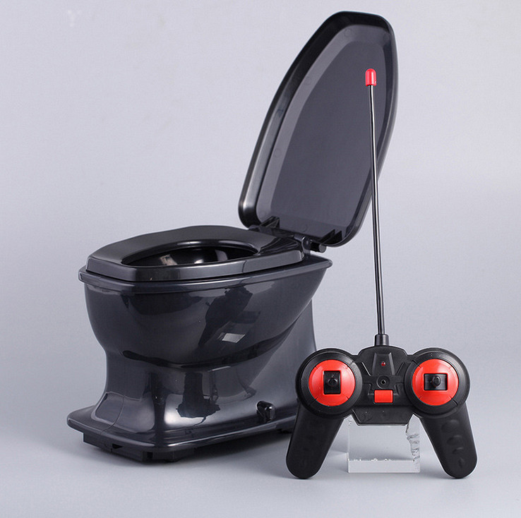 Halloween Fun jouet de toilette rc pour enfants adulte anti-stress anti-stress radiocommande cadeau nouveauté Gags blagues pratiques drôle