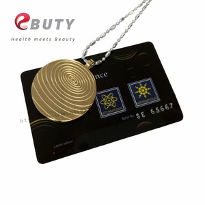 Image 3 - Gold Quantum Scalar Energy Stainless Steel Pendant with Far Infrared/ Negative Ion /Germanium Stones, 2 Pcs/lot Free Shipping