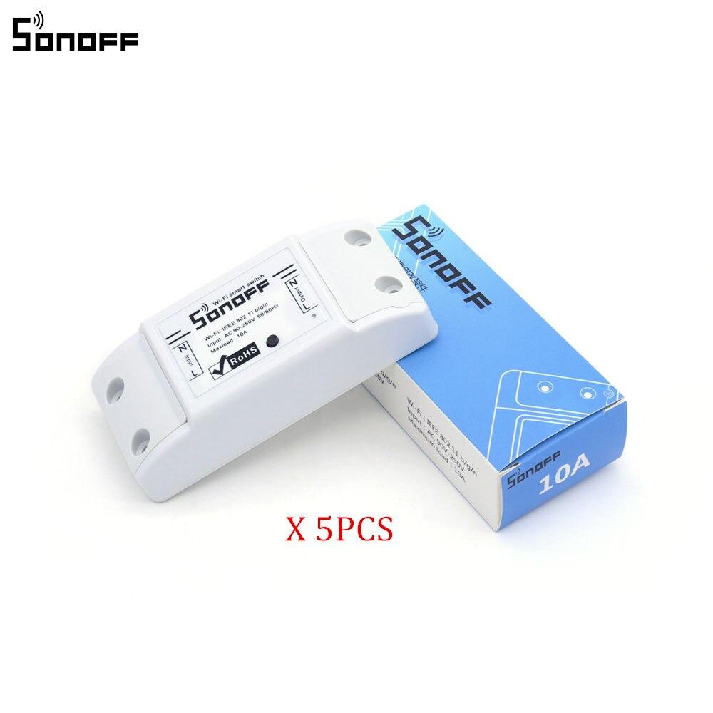 5Pcs Sonoff Wifi Switch Light Switch Intelligent Universal Ds