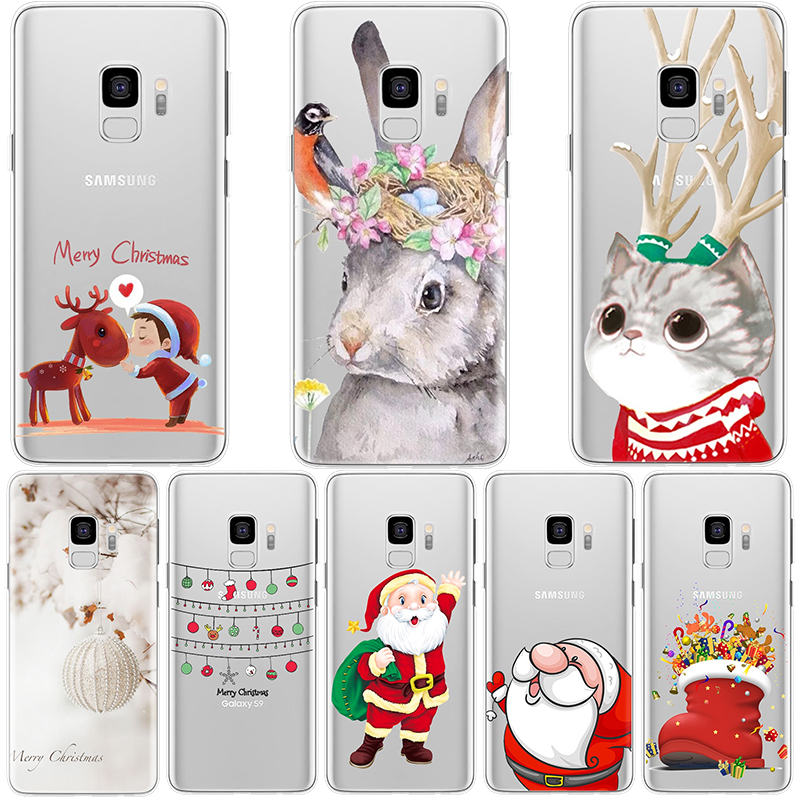 Happy New Year Phone Case For Samsung Galaxy J5 J4 J6 Plus J8 2018 J3 J7 Prime Duo Max 2015 2016 2017 Back Cover TPU Cute Deer