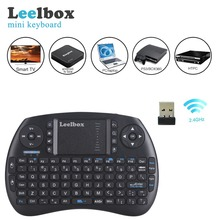 Leelbox Mini Wireless Keyboard Handheld With 2.4GH Air Touchpad Mouse For Android Tv Box недорого