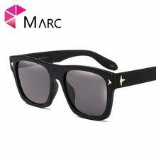 MARC UV400 WOMEN Plastic sunglasses Gradient Square Sol gafas eyewear Men Oculos Blue White Polycarbonate Goggle