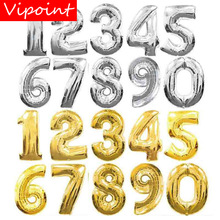 VIPOINT PARTY 32inch gold blue pink number foil balloons wedding event christmas halloween festival birthday party two HY-39