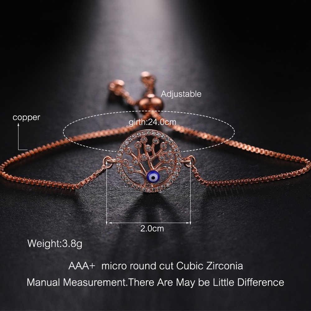2019 nowy produkt biżuteria dostarcza złoto/srebro/różowe złoto/czarne drzewo życia Evil Eye bransoletki dla kobiet mężczyzn Charm bransoletki