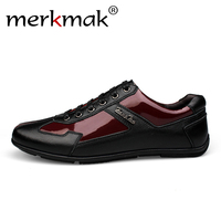 Luxury Brand Fashion Genuine Leather Men Shoes 2018 New Leather Men Casual Shoes High Quality Plus Size 36-48 Flat Shoes For Men 2