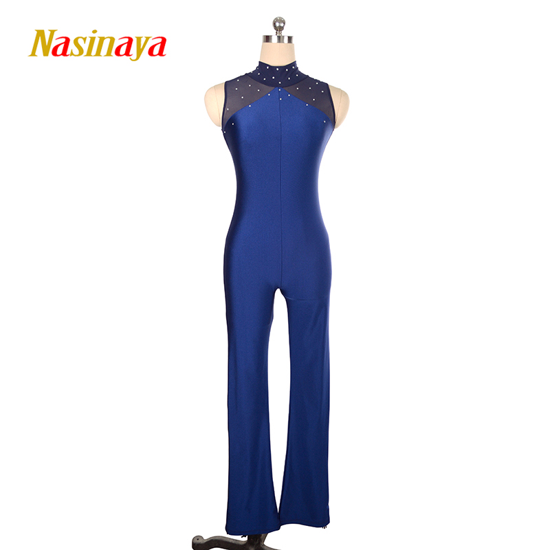 Nasinaya Figure Skating Leotard Jumpsuit For Girl Kids Women One Piece Customized Patinaje Ice Skating Costume