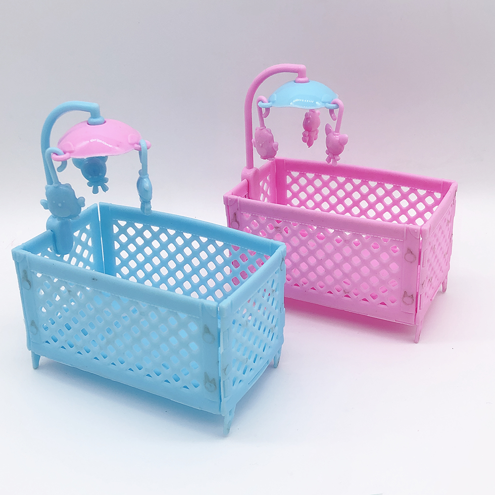 New 2019 Mini Imitation Furniture Doll Bed Princess Doll House Accessories Children's Toy Baby Cradle Bed