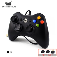 Data Frog USB Wired Gamepad For Xbox 360 Controller Joystick For Official Microsoft PC Controller For