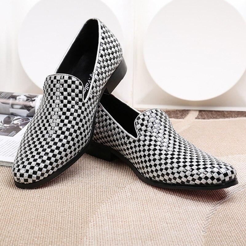 As Marca Hombre Superior Vestido Hombres De on Loafer Pastor Registro Bajo Etapa Pic Tacón Calidad Guinga Zapatos Cuero Traje Slip Boda t8gngwqHv
