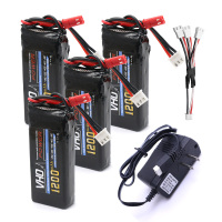 VHO 4pcs 7 4V 1200mAh Battery UL Charger 3 In 1 Cable For YiZhan Tarantula X6