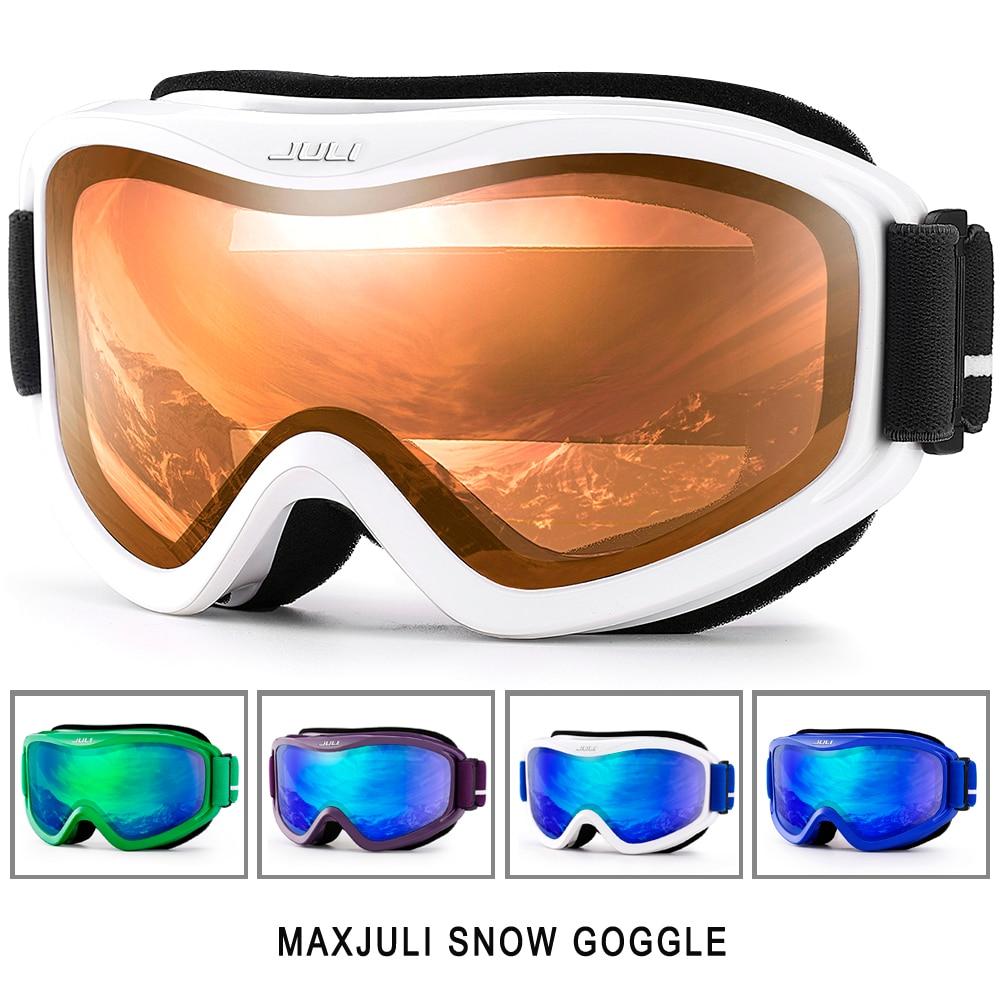 Ski Goggles New MAXJULI Brand Double Layers UV400 Anti Fog Big Ski Mask Glasses Skiing Men
