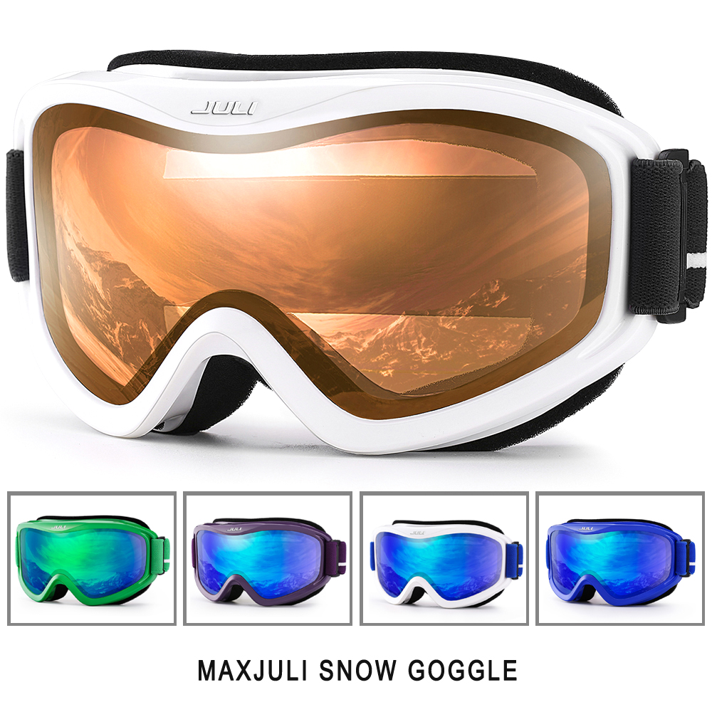 ski goggles, New MAXJULI brand double layers UV400 anti-fog big ski mask glasses skiing men women snow snowboard goggles 2017