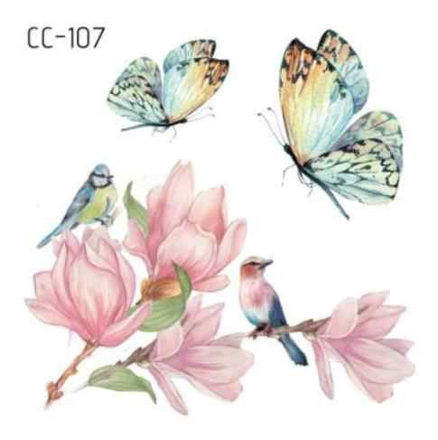 Temporary Tatoo Fake Tattoo Sticker Butterfly Flower Bird Small fresh Tatouage Waterproof Flash Tatto Temporaire For Girl Women