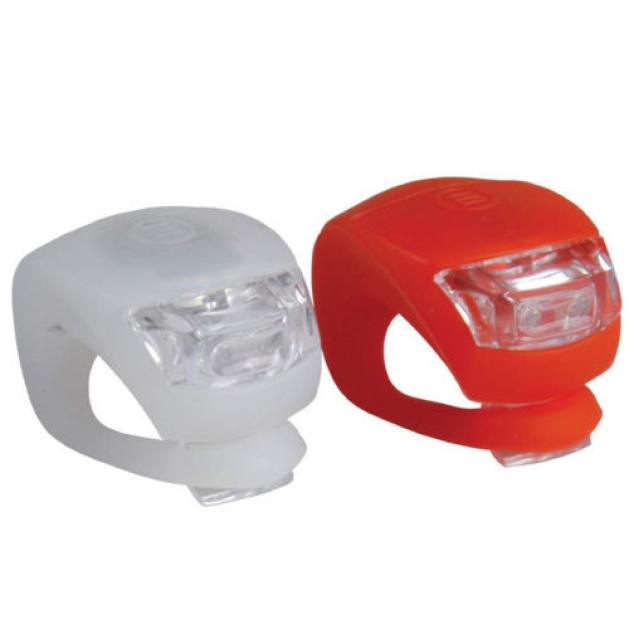 2 X LED Bicycle Bike Cycling Silicone Head Front Rear Wheel Safety Light Sport Outdoor Bike Cycling Accessories Wholesale