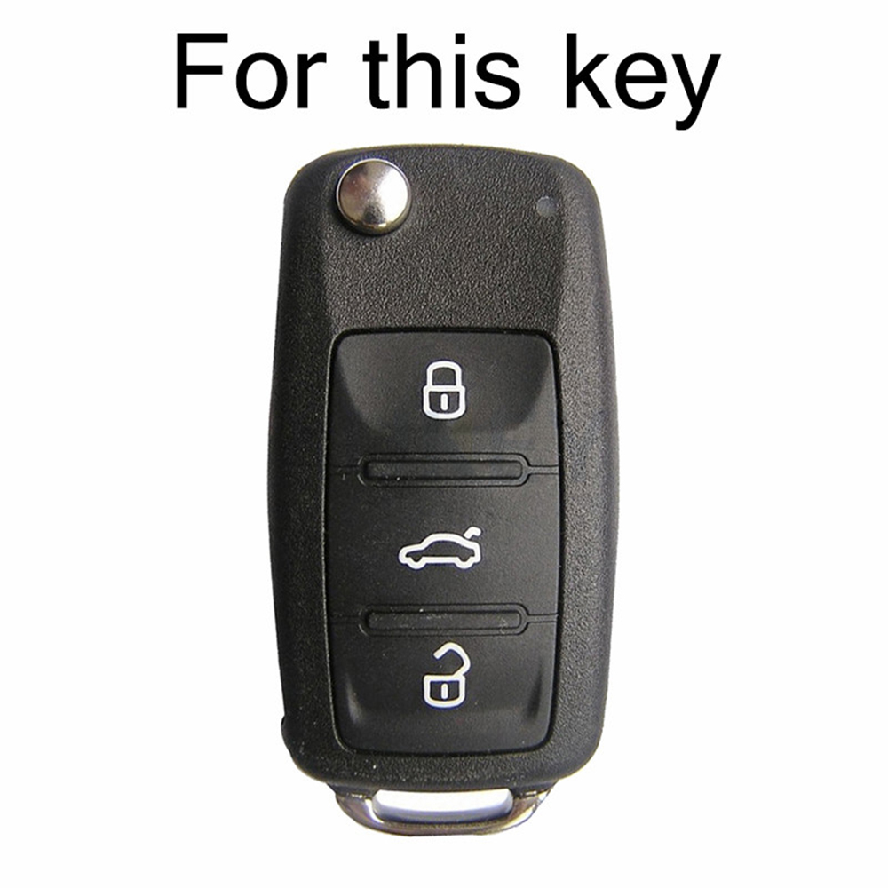 Image 2 - Silicone Car Key Case Remote Fob Cover For VW Polo Bora Beetle Tiguan Passat Golf For Skoda Fabia Octavia For Seat Leon Toledo-in Key Case for Car from Automobiles & Motorcycles