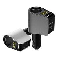 USB Car Charger Extended Cigarette Lighter Power Connector LED for Dodge charger journey challenger caliber caravan ram 1500