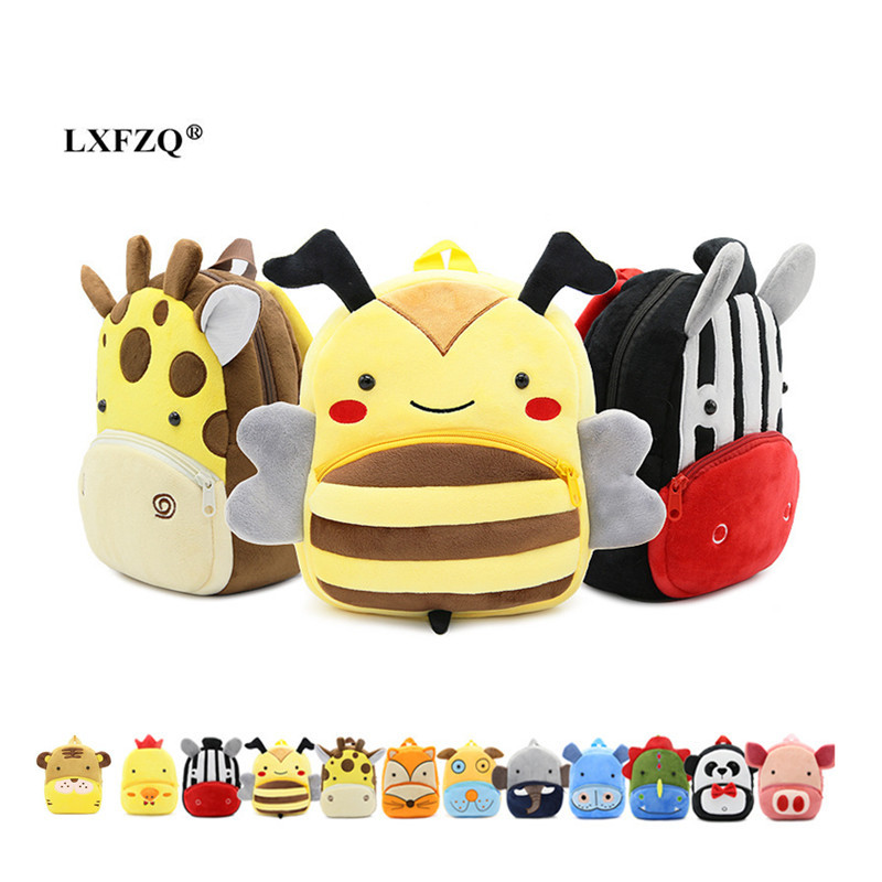 LXFZQ NEW Mochila Infantil Children Backpacks Kindergarten Schoolbag 3D Cartoon Kids Bags Children School Bags For Girls Boys