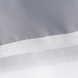 Image 3 - Uالجمعة رمادي و قماش أبيض دش ستارة للحمام مع نافذة شفافة الشاش الأبيض الحديثة انظر من خلال ستارة حمام