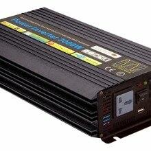 Чистая Синусоидальная волна солнечный инвертор 2,5 кВт 3000 Вт 12 В/24 В DC вход 120 В/220 В AC выход 50 Гц/60 Гц цифровой дисплей инвертор