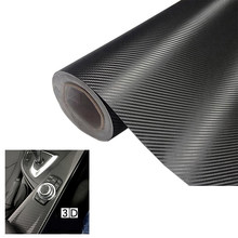 1 Piece Carbon Fiber Vinyl Film Interior 3D Matt Black Foil Wrap Roll Sticker Decal 50cmx200cm Car Sticker(China)