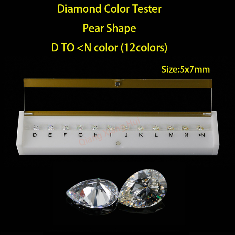 1d342603269 pear shapes D To N white Color Cubic Zirconia stone diamond grade color  Tester Tools