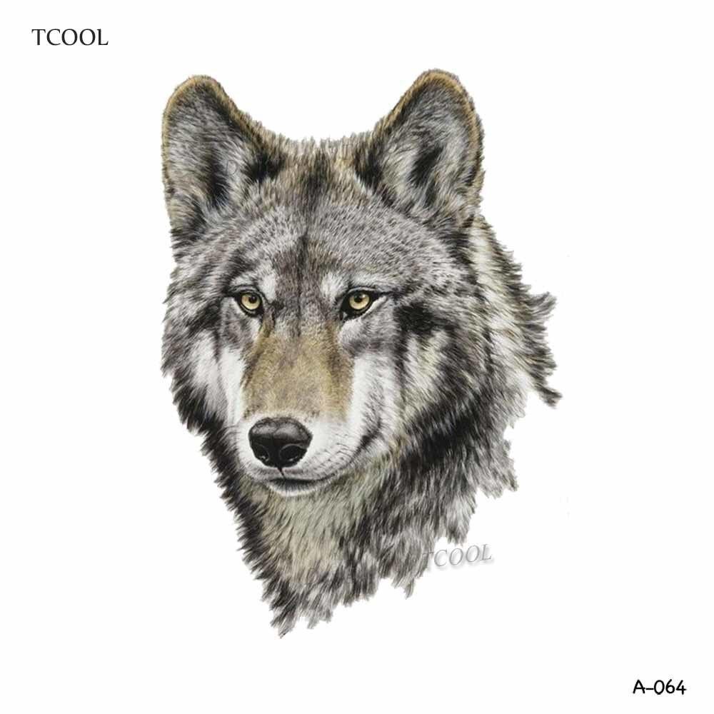 WYUEN Färgglada Wolf Head Tillfälliga Tatueringar Vattentäta - Tatuering och kroppskonst - Foto 4