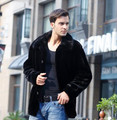 2017 Plus Size Male Faux Fur Outwear Jaqueta Masculina Winter Warm Thick Coat  Fur Turn-on Collar Coat  Faux Mink Overcoat D13