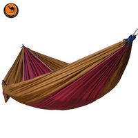 Camping Hammock Double Camp Hammock With Tree Rope And 4 Carabiners Portable Lightweight Nylon Fabric For