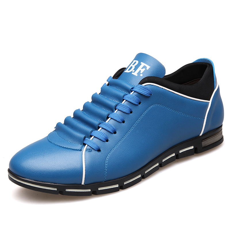 New 2018 Luxury Brand Men Casual Shoes Fashion Leather Shoes for Men Summer Men's Flat Shoes Dropshipping