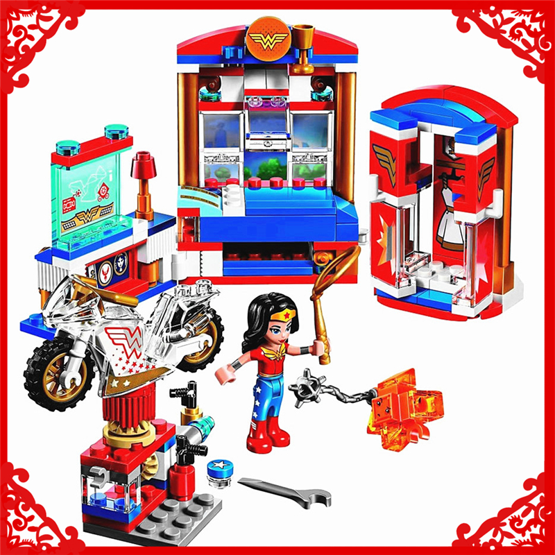 BELA 10616 DC Super Hero Girls Wonder Woman Dorm Building Block 192Pcs Educational  Toys For Children Compatible Legoe велосипед navigator super hero girls 18 разноцветный двухколёсный
