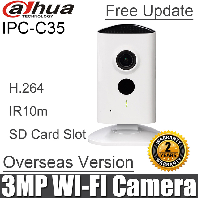 كاميرا شبكة داهوا IPC C35 3MP واي فاي استبدال ipc a35 H.264 IR 10m لاسلكية مدمجة في الميكروفون ومكبر الصوت الأصلي DH IPC C35