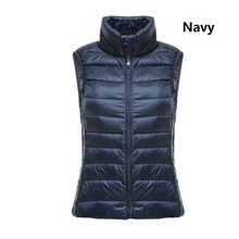 ZOGGA Women 2019 Winter Coat Sleeveless Vest Slim Solid Lady Down Jacket Vest Tank Top Warm Clothes Casual Women Parka Vest