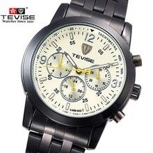 Famosa Marca TEVISE Hombres Mecánicos Automáticos Del Reloj de Lujo Relojes A Prueba de agua Reloj Relogio masculino reloj de Pulsera de Acero