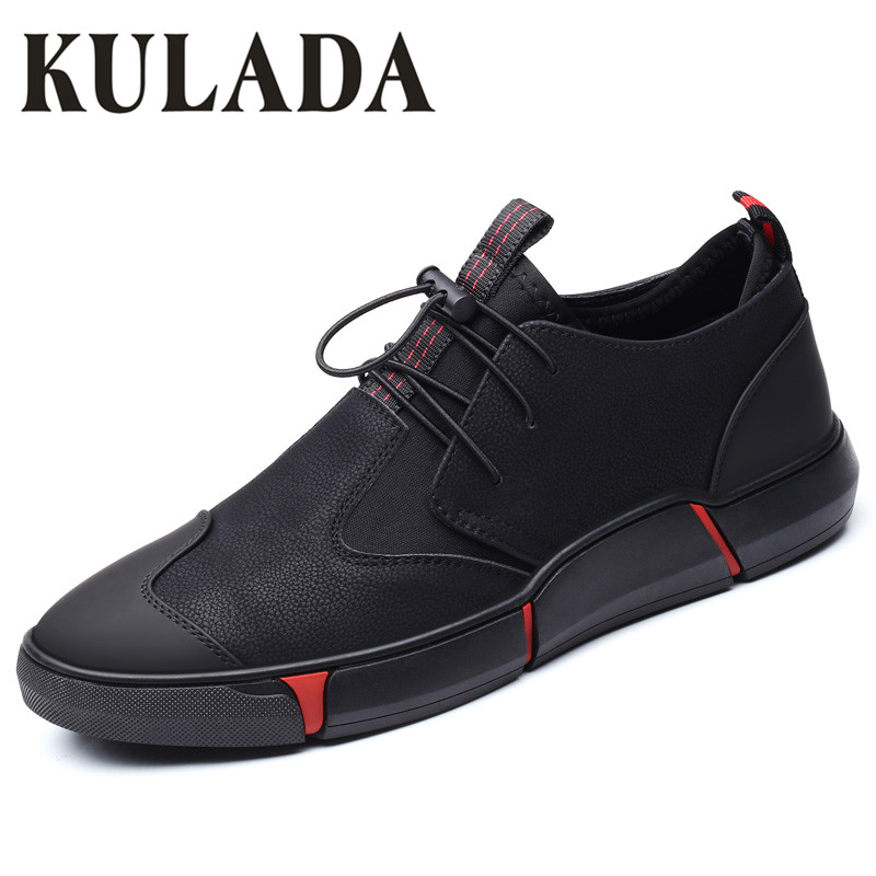 Hot Sale Newest Men's Shoes Casual Spring Leather Shoes Soft Fashion Walking High Quality Comfortable Men Sneaker Shoes