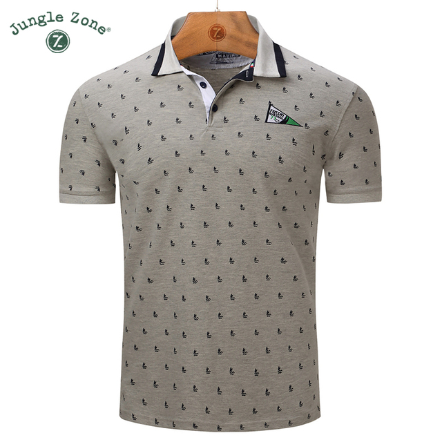 Europe large size 2018 New Brand Polos Mens Printed POLO Shirts 100% Cotton Short  Sleeve Polos Men s Casual Male Polo Shirt 0da818783