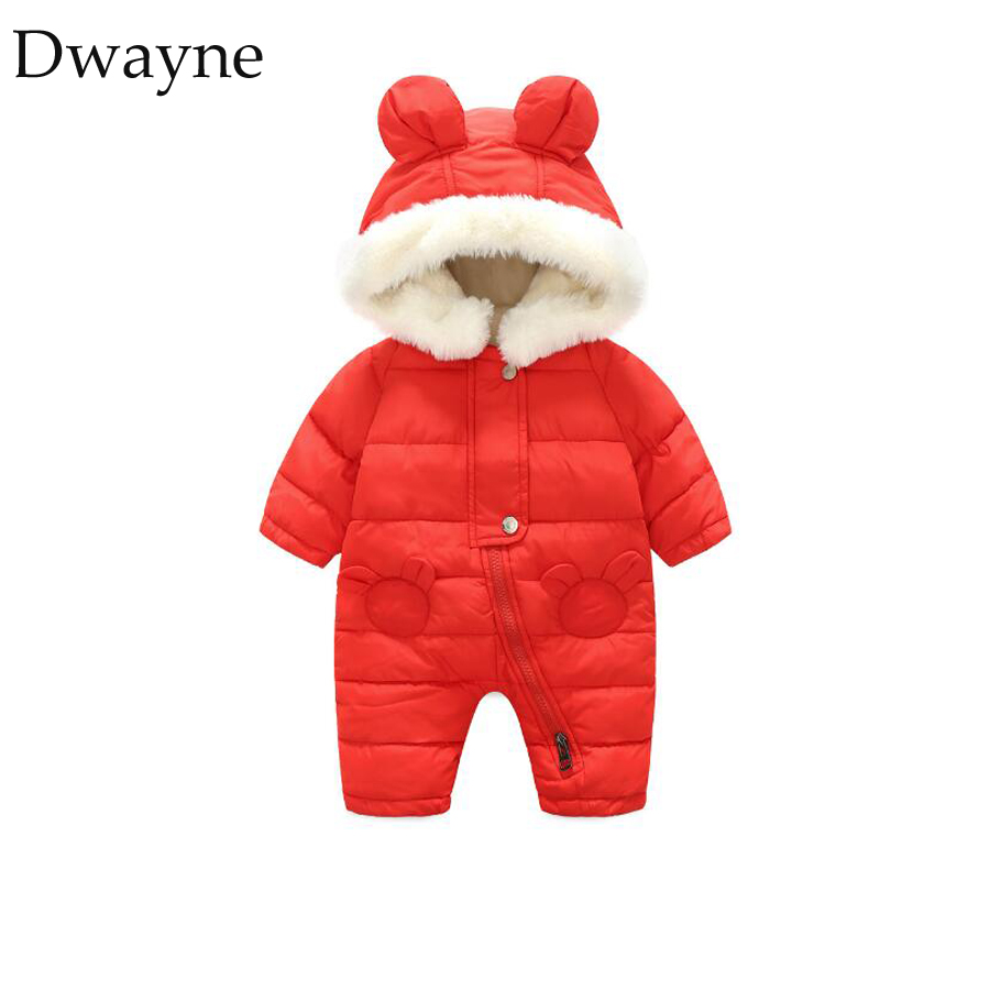 Baby Rompers Winter Thick Girls Clothes Polyester Girl Warm Infant Snowsuit Kids Jumpsui ...