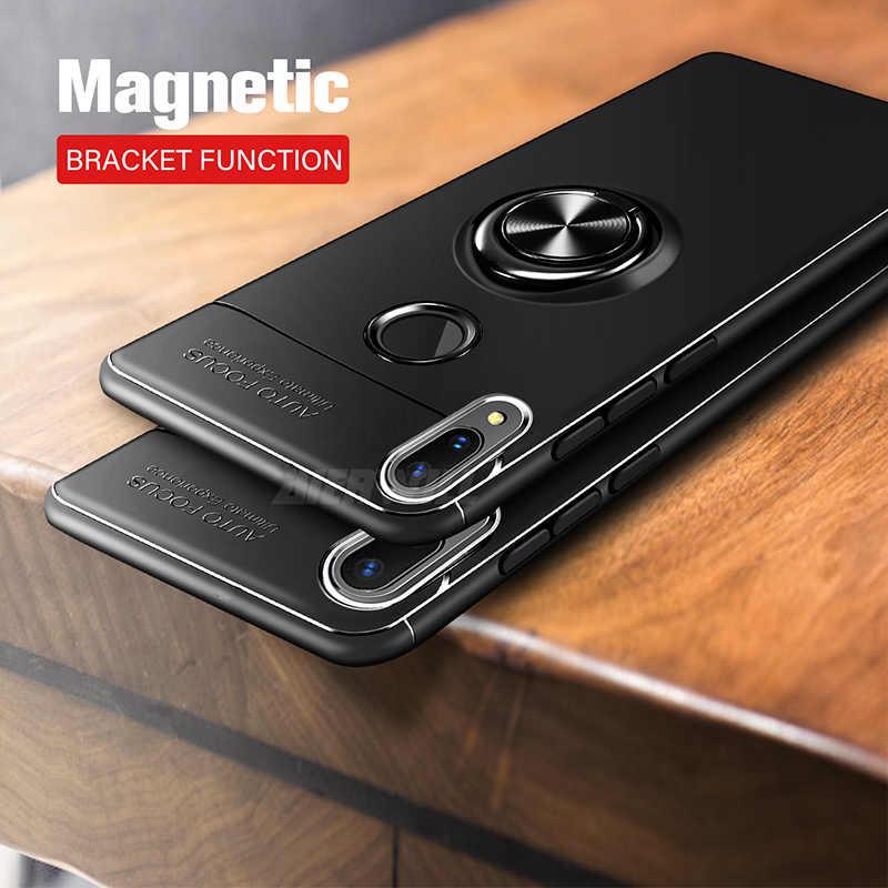 98b2040f0db56 Caso armadura Para Samsung Galaxy Caso A30 Titular Anel de Dedo de Silicone  Macio Bumper Capa