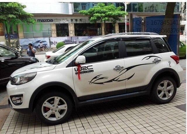 Универсальная индивидуальная Автомобильная наклейка на все тело s Наклейка гирлянда гоночная Спортивная Наклейка Docer водоотталкивающие обои винил w2c двери SUV